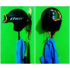 Gantungan Helm / Jaket / Jas Hujan / Gantungan Helm Motif Kayu