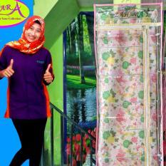 Gantungan Jilbab Pink Flower