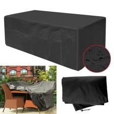 Garden Patio Furniture Cover Waterproof Rectangular Outdoor Meja Rotan Cover-Intl