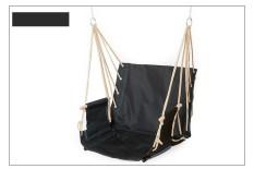 Taman Teras Porch Gantungan Katun Tali Berayun Kursi Kursi Hammock Swinging Kayu Luar Ruangan Dalam Berayun Kursi Kursi-Internasional