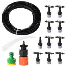 Jual Garden Water Misting Cooling System 10Pcs Sprinkler Nozzles Irrigation Set Hs407 Satu Set
