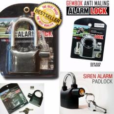 Gembok Alarm Kunci Pengaman Pagar / Motor / Pintu Free Batre By Toko Kado Unik.
