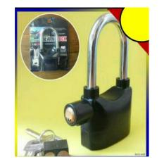 Gembok Alarm untuk rumah toko ruko gudang Anti maling. bisa juga untuk motor. suara Alarm sangat Kuat seperti suara Alarm Mobil