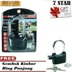 [BUY 1 GET 1] Gembok Kinbar Anti Maling Gembok Alarm RING PANJANG ORIGINAL 100% Suara Mantap