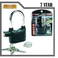 Gembok Kinbar LR-44 7STAR Anti Maling Gembok Alarm RING PANJANG ORIGINAL 100% Suara Mantap