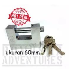 GEMBOK KOTAK SORONG 60mm / SECURITY PADLOCK SERBAGUNA KUNCI SAMPING
