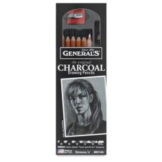 General's Charcoal Pencil Set (8 Pcs)