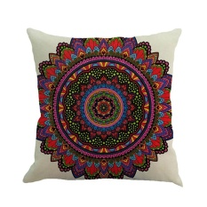 Review Geometry Painting Linen Cushion Cover Throw Pillow Case Sofa Home Decor F Intl Oem