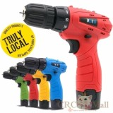 Spesifikasi Germany Voto East Tools 12V Cordless Drill Electric Screwdriver Red Intl Murah
