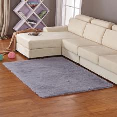 GETEK Anti-Skid Shaggy Ruang Makan Kamar Tidur Fluffy Rugs Karpet Tikar 80 Cm * 120 Cm (Abu-abu)