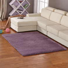 GETEK Anti-Skid Shaggy Ruang Makan Kamar Tidur Fluffy Rugs Karpet Tikar 80 Cm * 120 Cm (Abu-abu Ungu)