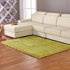 GETEK Anti-Skid Shaggy Ruang Makan Kamar Tidur Fluffy Rugs Karpet Tikar 80 Cm * 120 Cm (Hijau)