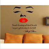Diskon Produk Getek Peniruan Cantik Marilyn Monroe Yang Stiker Dinding Quote Stiker Gaya Vinil Seni Dekorasi Diseduh Sendiri Hitam Merah