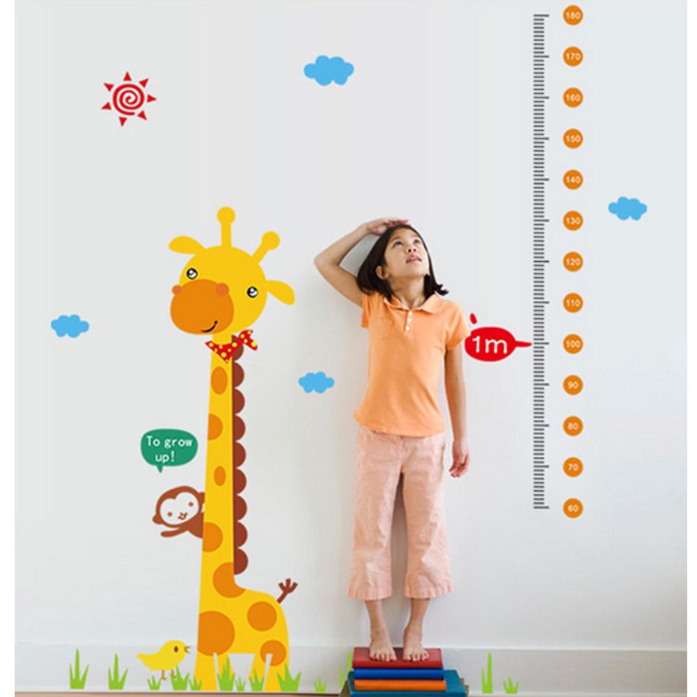 Giraffe Tinggi Pengukuran Hewan Monyet Wall Decal Home Sticker PVC Mural Vinyl Kertas Rumah Dekorasi Wallpaper Ruang Tamu Kamar Tidur Dapur Gambar Seni DIY untuk Anak Remaja Remaja Dewasa Pembibitan Bayi-Intl