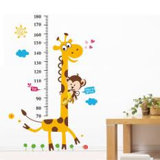 Harga Stiker Dinding Pvc Tabel Pengukuran Tinggi Anak Jerapah Monyet Yang Dapat Dilepas Termurah