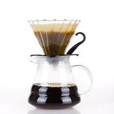 Promo Glass Coffee Dripper Dan Pot Set Hitam Untuk Hario V60 Intl Di Tiongkok