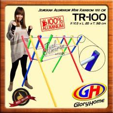 Glory Home Jemuran Baju Aluminium Mini 100cm - Rainbow