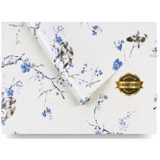 Jual Glory036 Wallpaper Sticker Premium Quality Motif Burung Dan Bunga Sakura Biru Wallpaper Sticker Ori