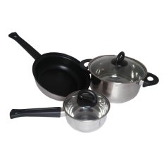 Tips Beli Gloryshop Panci Set 3 Items Yg Berbeda Stainless Steel Royal Set