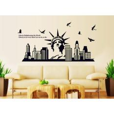 Spesifikasi Glow2102 Wall Sticker Premium Motif New York Liberty Glow In The Dark Ukuran Jumbo 60 Cm X 90 Cm Dan Harga