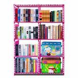 Spesifikasi Godric Rak Buku Portable Double Lemari Serbaguna 2 Sisi 10 Layer 8 Susun 85 X 30 X 125 Cm Pink Polkadot Godric