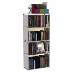 Beli Godric Rak Buku Portable Single Lemari Serbaguna 5 Layer 4 Susun 50 5 X 30 5 X 144 Cm Grey Terbaru
