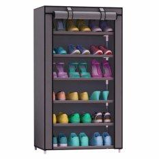 Godric Rak Sepatu SINGLE 7th / Lemari Sepatu / Shoes Rack 56 x 25 x 105 CM - Grey