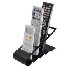 Godric Remote TV Holder Organizer / Tempat Rak Remote AC & DVD Bahan Besi - Hitam