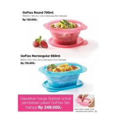 Goflex Set Tupperware Original Bergaransi Go Flex Rectangular Round - O1lhce