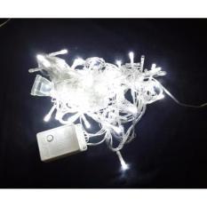 Gogo Grosir Mitsuyama Lampu Hias / Lampu Natal 100 Led Warna Putih MS-358 HB 10 Meter