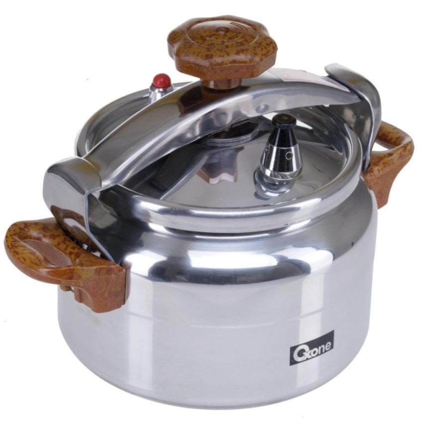 Pegangan Kayu Gogo Grosir Oxone Aluminium Pressure Cooker, Panci Presto 12 liter Multi Fungsi OX-2012