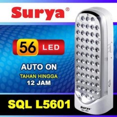 Jual Gogo Grosir Surya Lampu Emergency 56 Led Smd Light Emitting Diode Technology Sql L5601 Branded