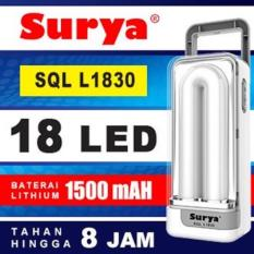 Gogo Grosir Surya Lampu Emergency SQL L1830 Light LED 18 SMD Rechargeable