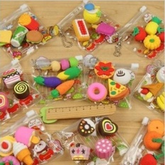 GOGOStore 1 Pack Cute Food Rubber Pencil Eraser Stationery Novelty Creative Present - intl