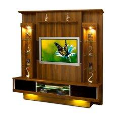Gold Creova Lemari Hias Tv / Rak Tv - Cokelat