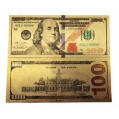 Gold Foil Banknote 24k America $ 100 USD Dollar Money Collection