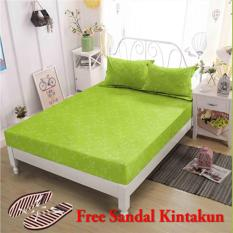 Beli Golden Leaf Kintakun Sprei King Embbosed 180X200 Tinggi 30 Cm Warna Canary Terbaru
