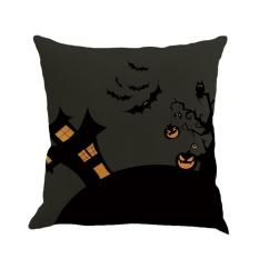 BAIK Halloween Bantal Bantal Cover Black Night Witch Labu Bat Spider #3-Intl