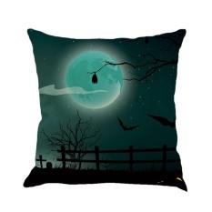 BAIK Halloween Sarung Bantal Flax Pillowslip Bantal Dekoratif Case Dark Night Labu #1-Intl