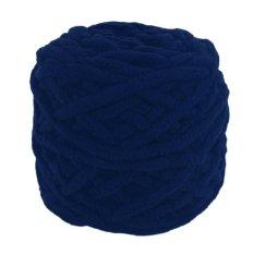 BAIK Navy Blue DIY Syal Sweater Handuk Tebal Benang Rajut 95g 7mm Diameter Navy Blue-Intl