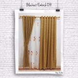Jual Gorden Minimalis Blackout Embosh Orange Honey Gordyn Tirai Curtains Online Di Jawa Barat