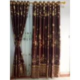 Jual Gorden Minimalis Blackout Printing Brown Combine Gordyn Tirai Curtains Jawa Barat