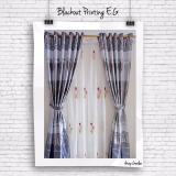Harga Gorden Minimalis Blackout Printing Ethnic Grey Combine Gordyn Tirai Curtains