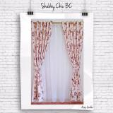 Spek Gorden Minimalis Blackout Shabby Coklat Gordyn Tirai Curtains