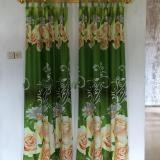 Promo Gorden Pintu Green Rose Uk 120X200 Hijau Papring Collection Terbaru