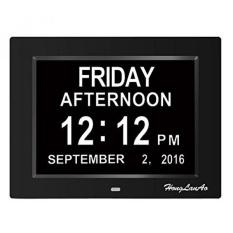 GPL/Jam Alarm, Jam Kalender Digital Hari, Upgrade dengan 8 Alarm, Besar Yang Tidak Disingkat & Bulan, Jam Alarm Digital untuk Asli Kehilangan Memori, Hadiah Bagus untuk Orang Tua (8 Inci/Hitam)/kapal dari AMERIKA SERIKAT-Intl