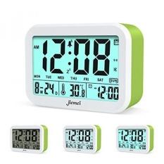 GPL/Digital Alarm Clock, Jiemei Talking Alarm Jam untuk Anak-anak dan Orang Dewasa, Dioperasikan, 4.5 Display, Smart Backlight, 3 Alarm, 7 Cincin, Pilihan Hadiah Yang Bagus (Hijau) /kapal dari AMERIKA SERIKAT-Intl