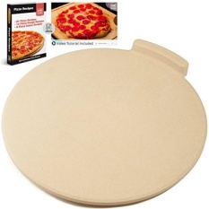 GPL/The Ultimate 16 Round Pizza Stone For Memasak & Baking Di Oven & Grill. Eksklusif ThermoShock & Core Konveksi Teknologi For Sempurna Kerak Renyah. No-Spill Yang Dipatenkan Stopper & 108 Resep EBook/kapal dari USA