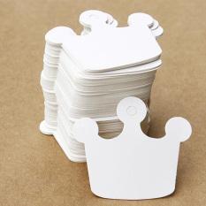 Beli Gracefulvara 50 Pcs Diy Crown Dirancang Hadiah Kertas Label Harga Hang Tag Kartu Pesta Pernikahan Favor Putih Online Terpercaya