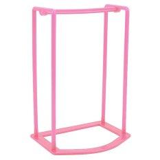Gracefulvara Smart Baju Desain Gantungan Stacker Pemegang Penyimpanan Organizer Rack (pink)